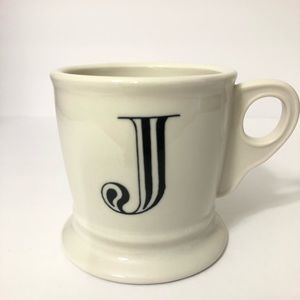 Anthropologie Monogram Initial Coffee Mug 'J'